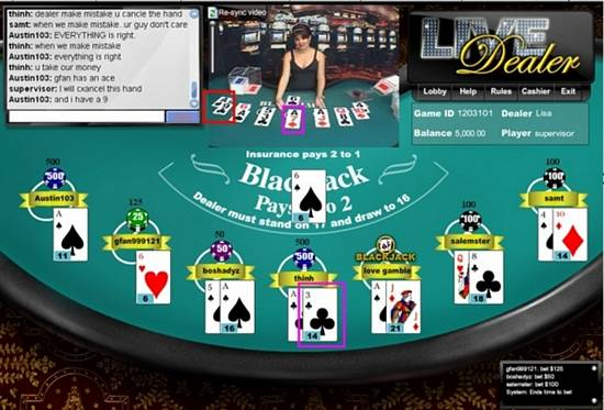 5dimes live dealer blackjack